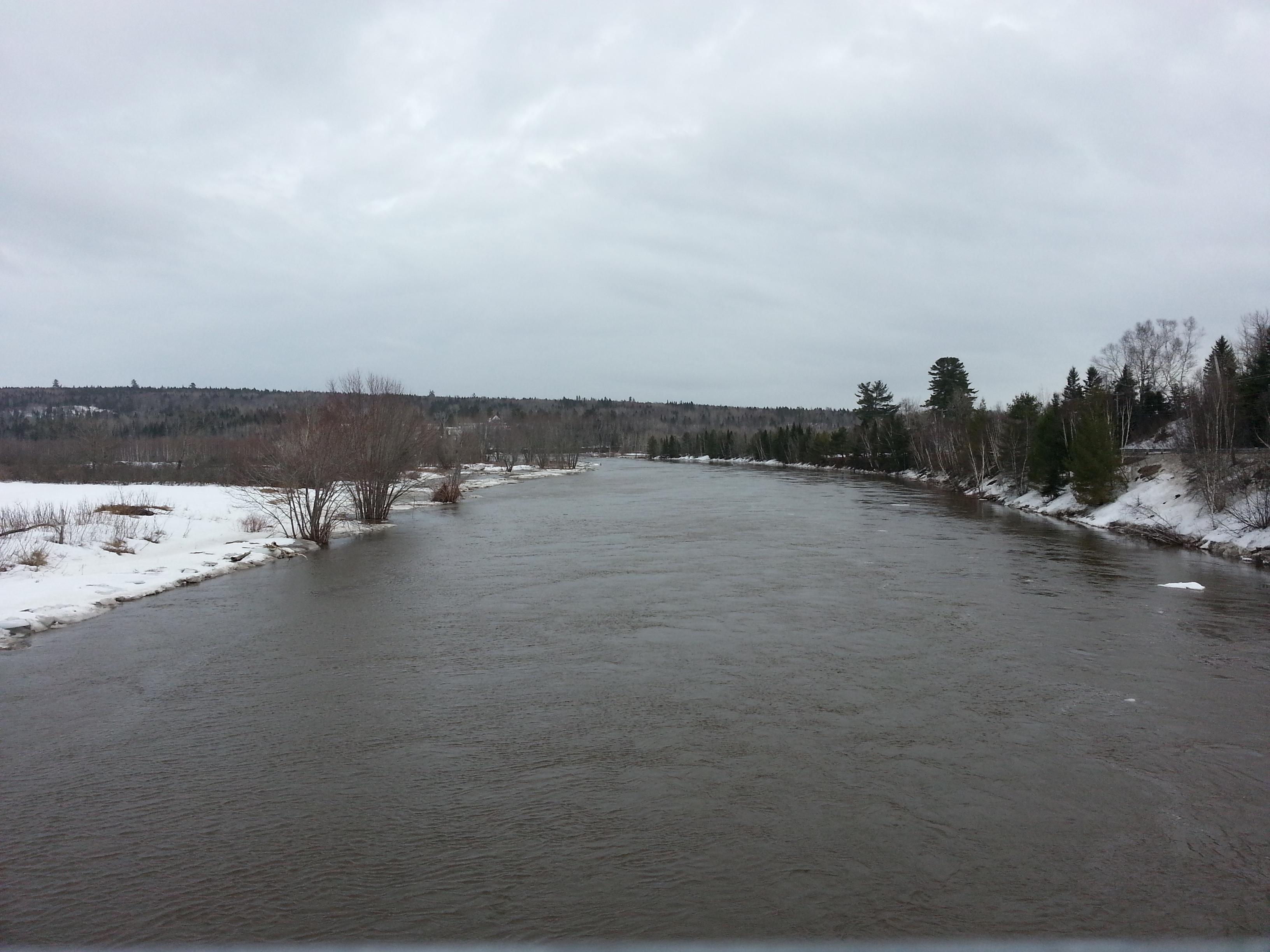 Nashwaak River looking downstream from Durham Bridge