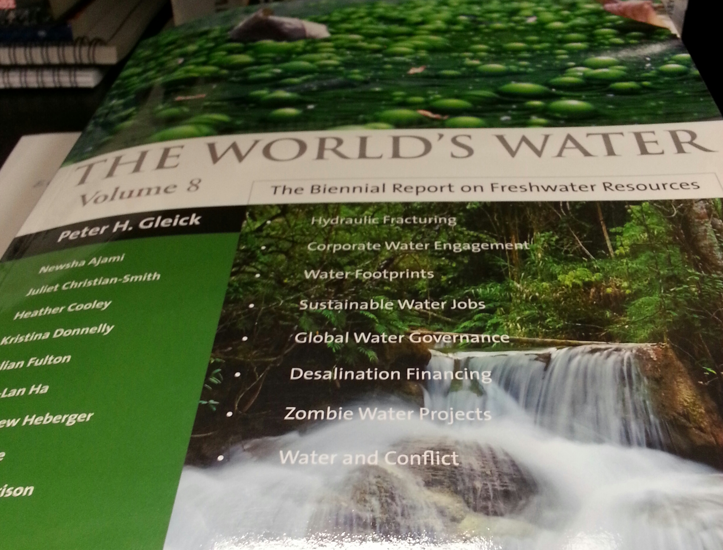 Cover of bi-annual report on fresh water