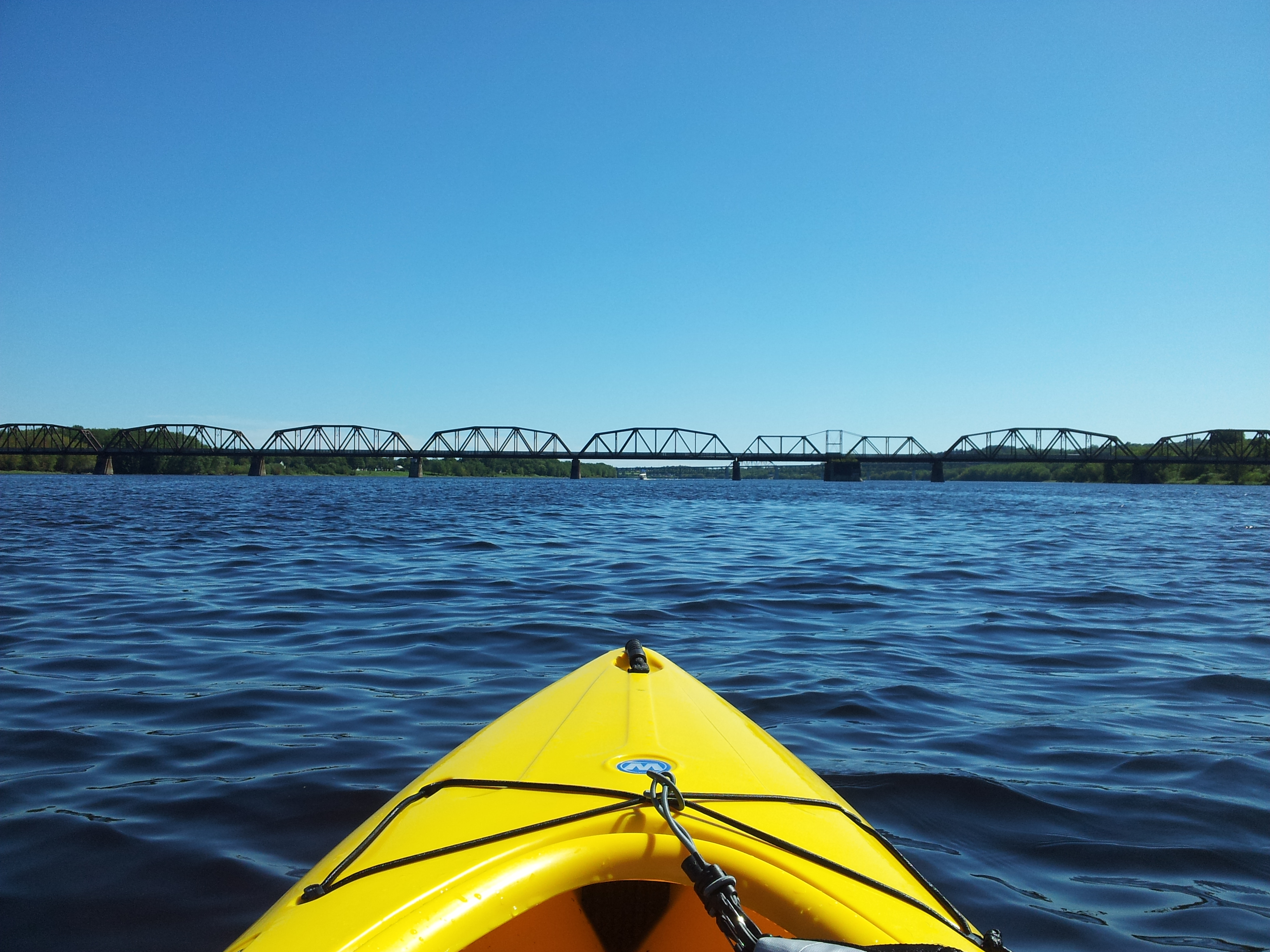 Kayaking on the Saint John River in Fredericton