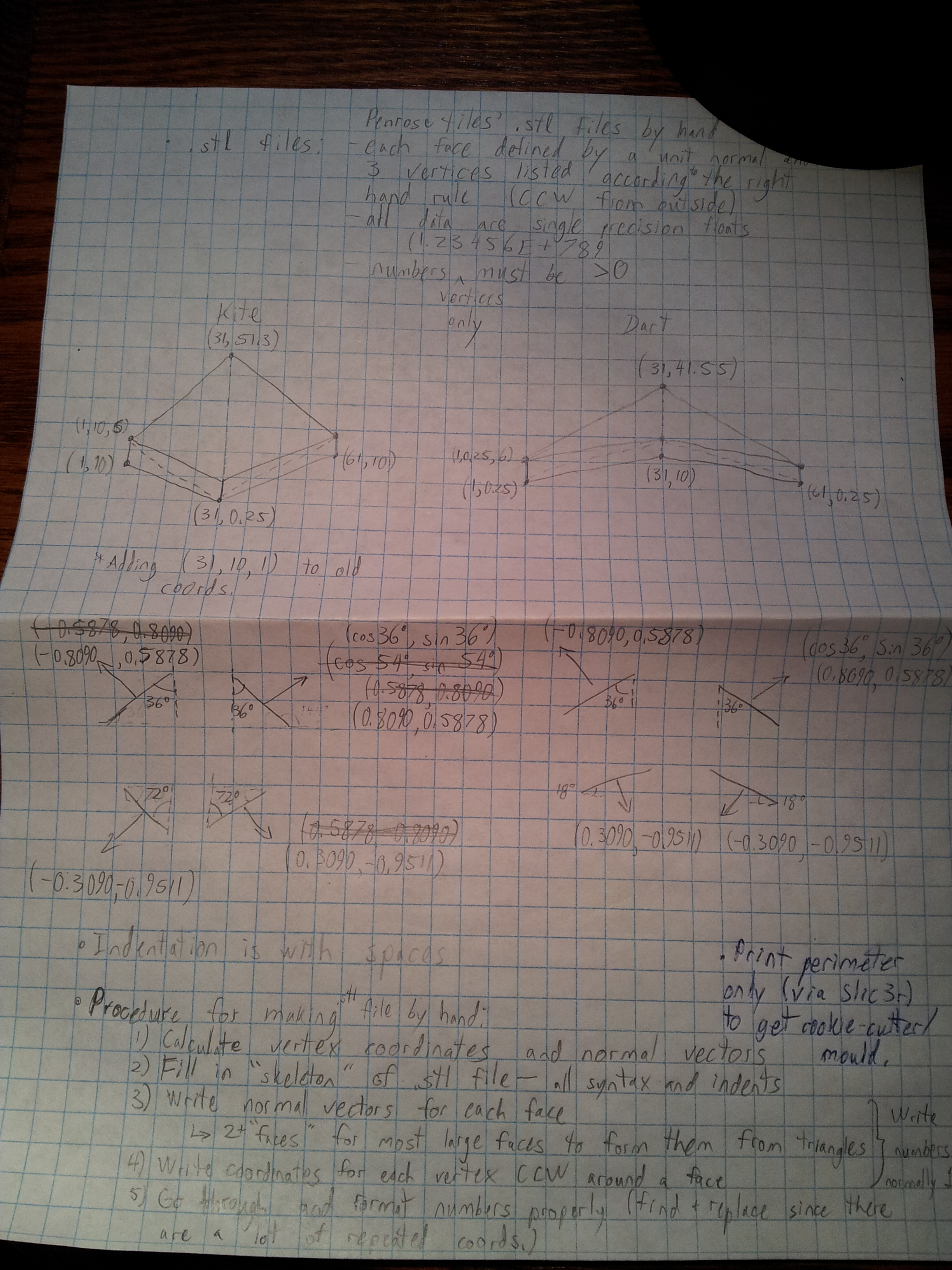 Sketch/calculations page 2