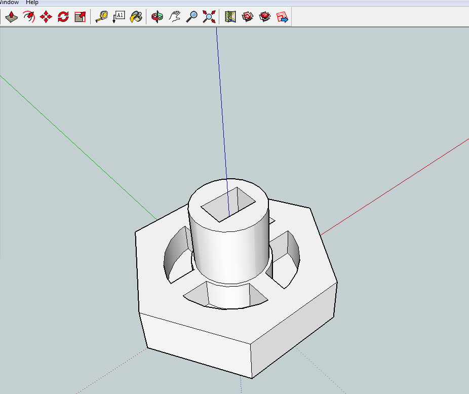 Oven knob modelled in SketchUp