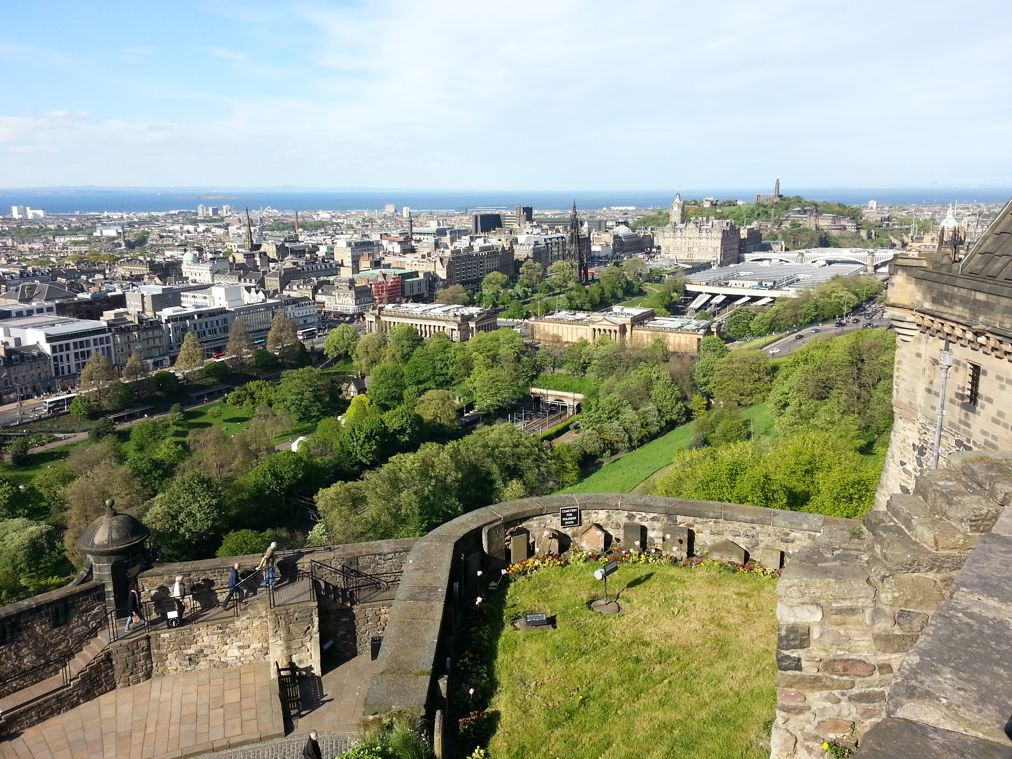 Edinburgh: New Town as seen from Castle walls