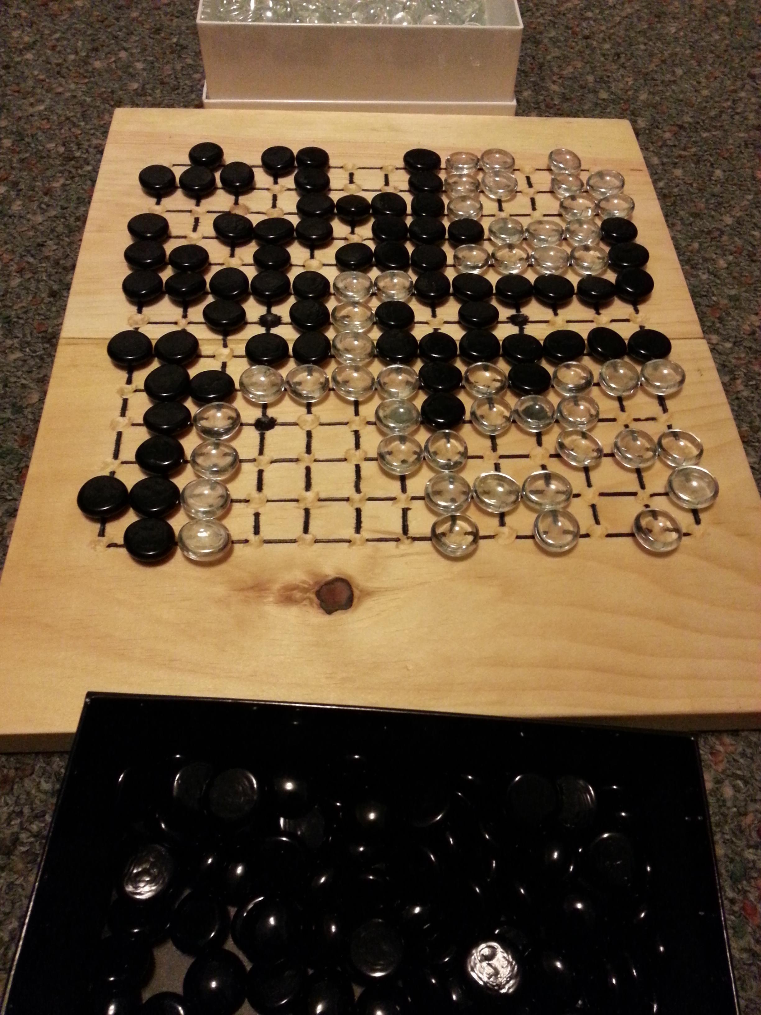 13 x 13 Go board