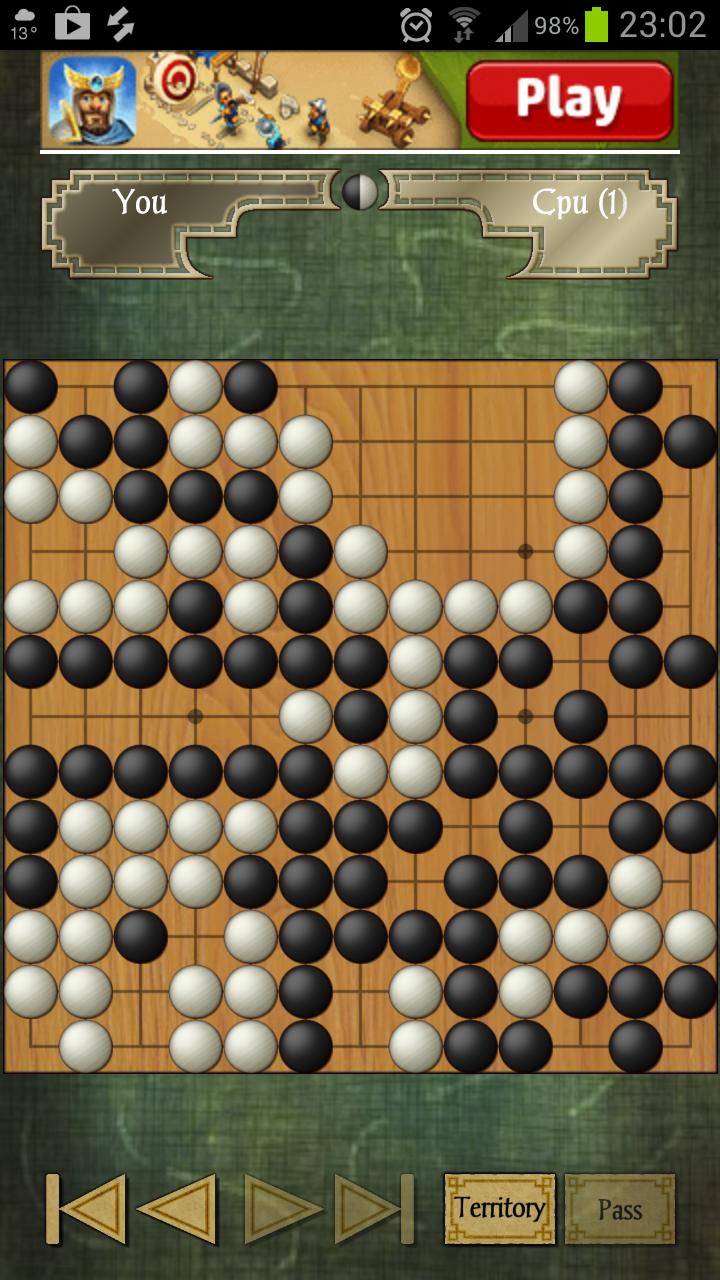"Screenshot of ""Go"" app"