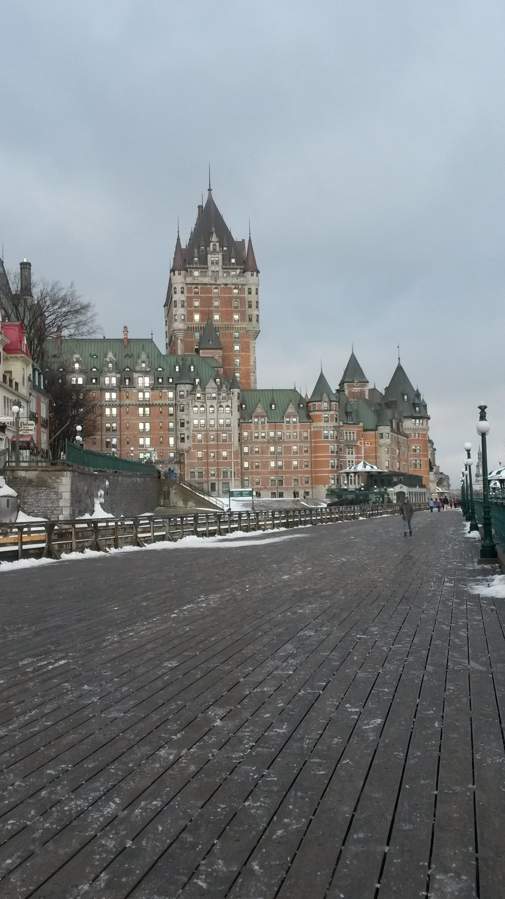 Chateau Frontenac from Governors' Promenade