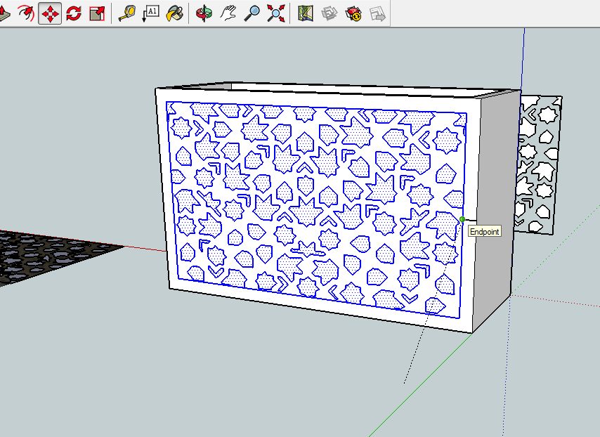 Applying the tiling pattern in SketchUp
