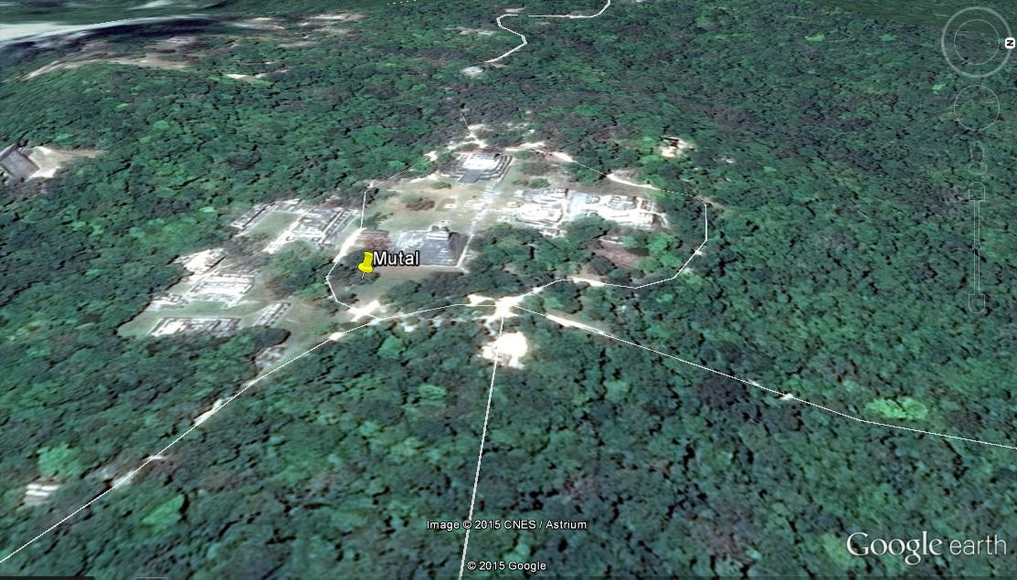 Mayan ruins of Mutal/Tikal, Guatemala