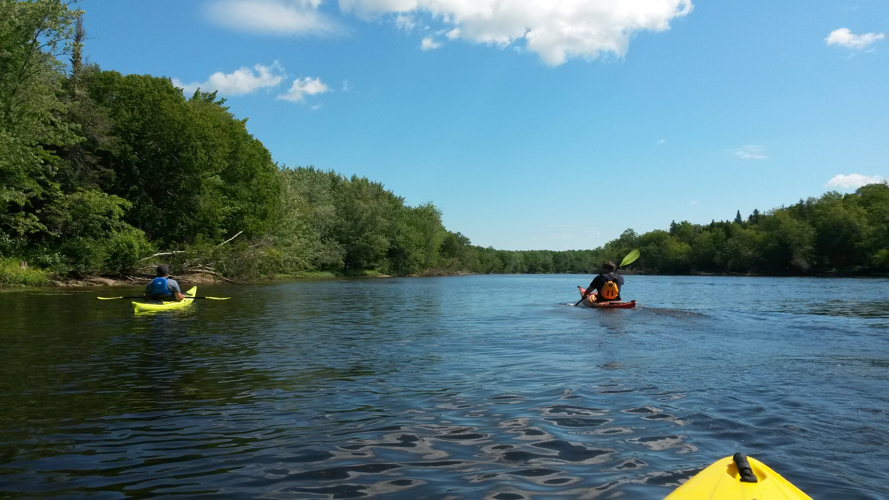 Kayaking on the Oromocto River