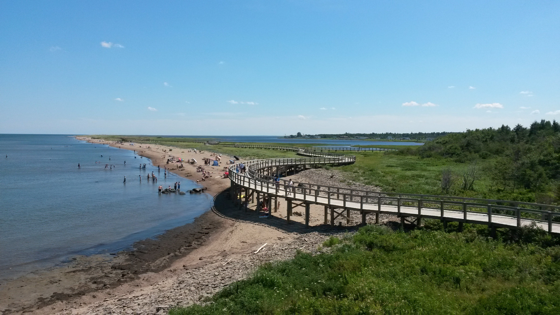 The Bouctouche Dunes boardwalk