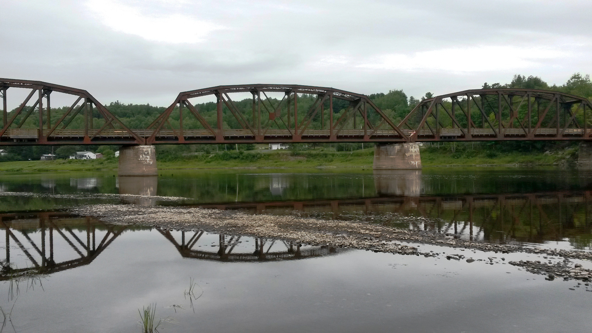Old train bridge in Doaktown