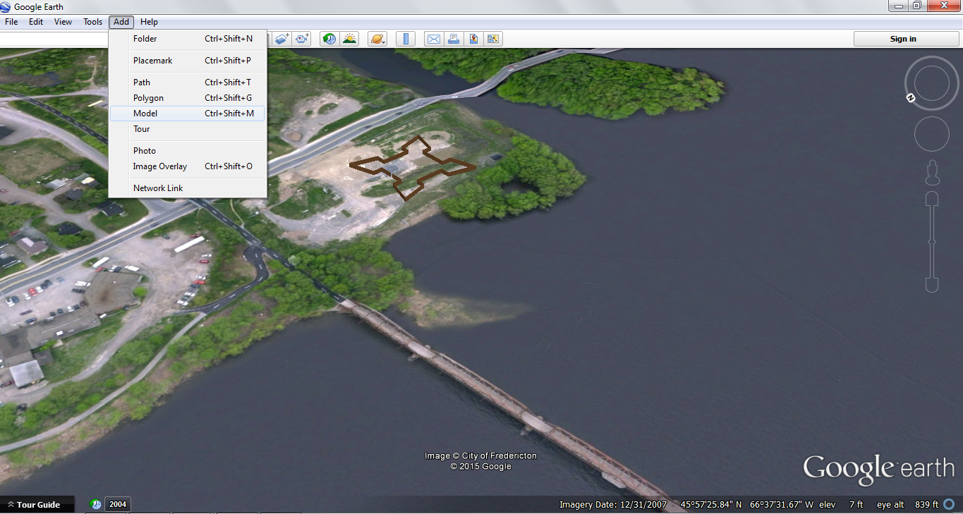 Model in Google Earth