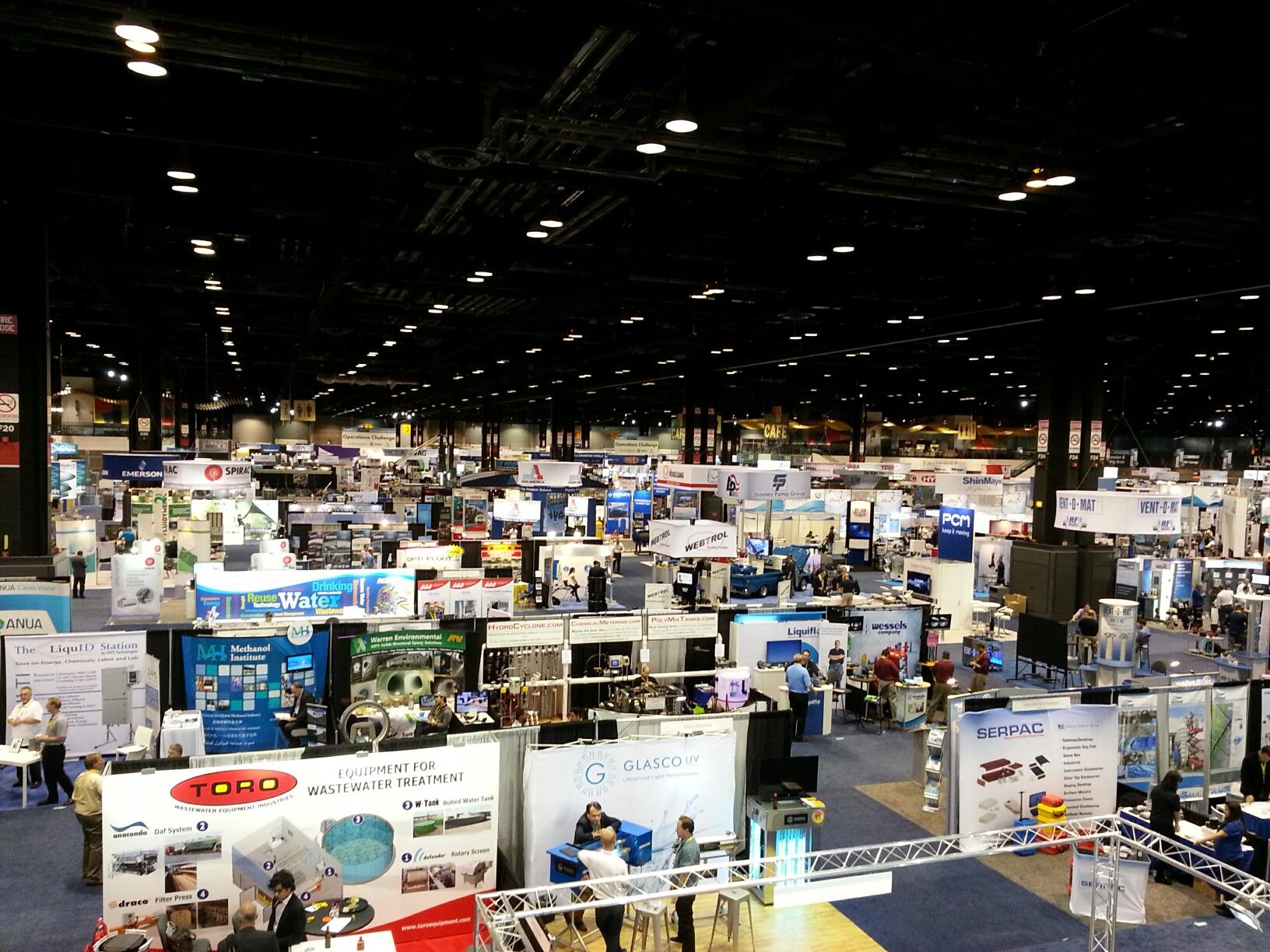 Part of the tradeshow floor