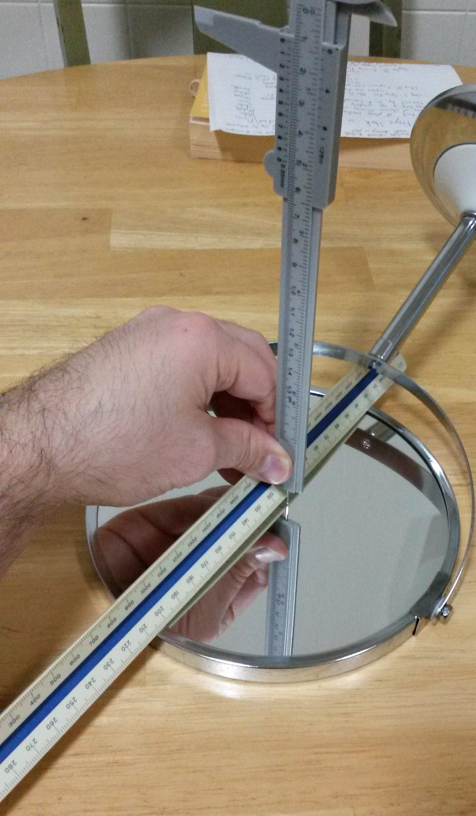 Measuring the mirror's curvature
