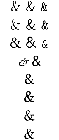 Ampersands in LaTeX