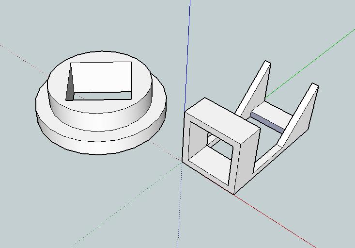 3d-modelled holder for diagonal mirror