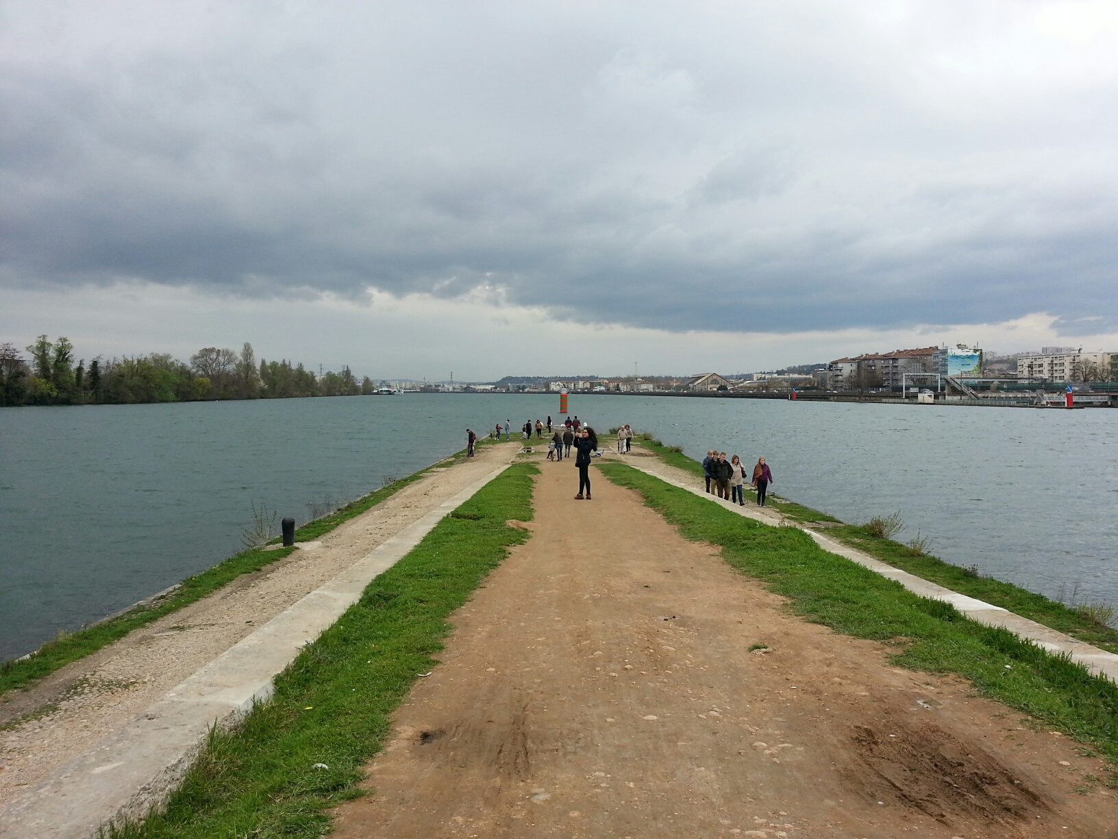 Confluence of Saone with Rhone