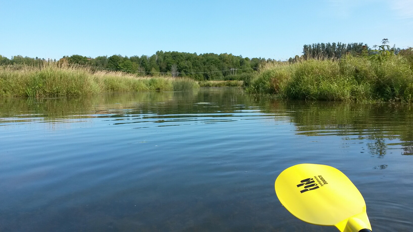 Paddling near the mouth of the Meduxnekeag River