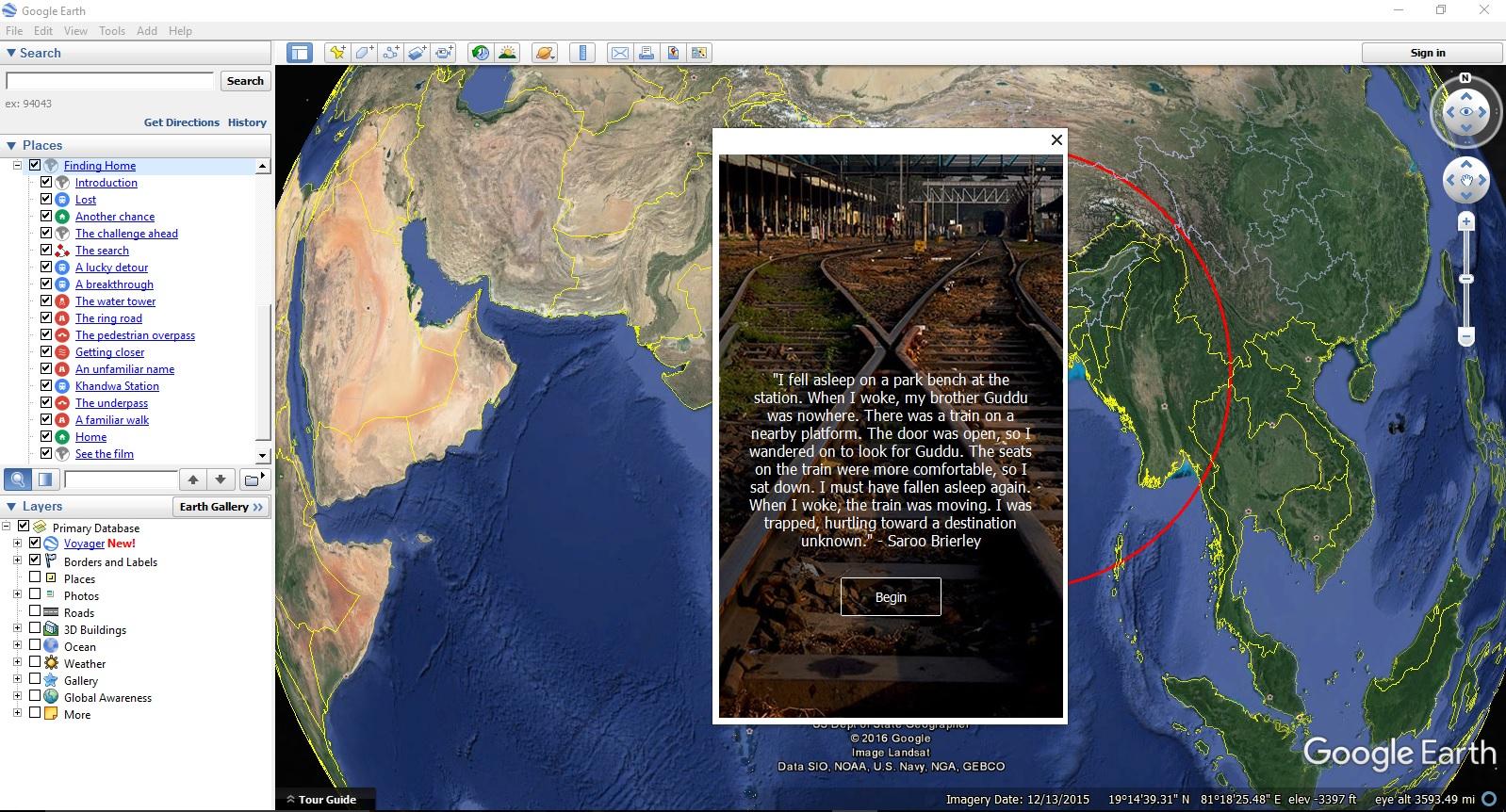 Lion trailer in Google Earth, screenshot 1