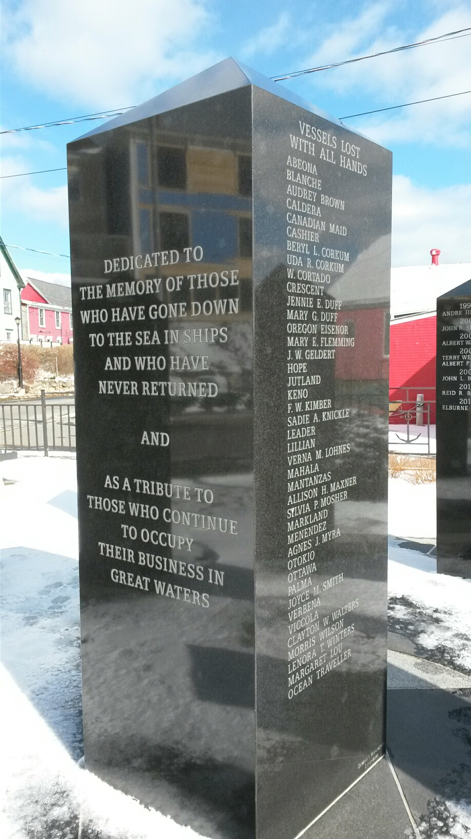 Fishermen's Memorial in Lunenburg