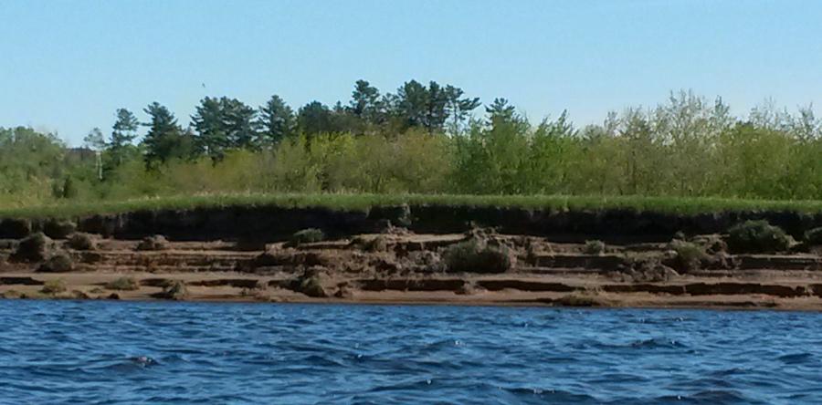 Scoured banks of Hartt Island