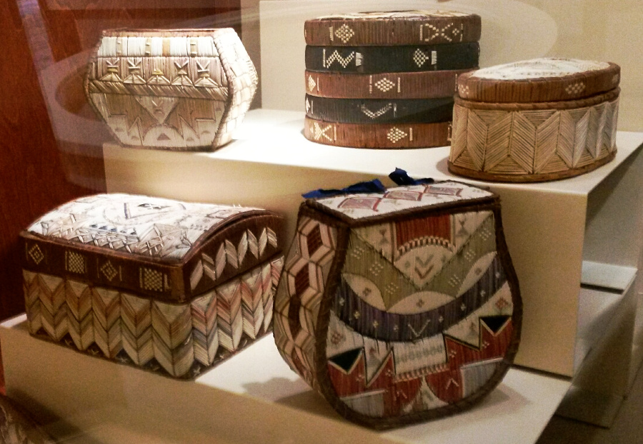 Quillwork baskets at the Millbrook Heritage Centre