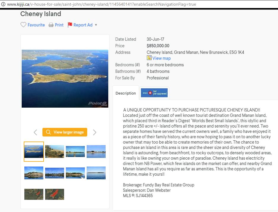 Private island ad