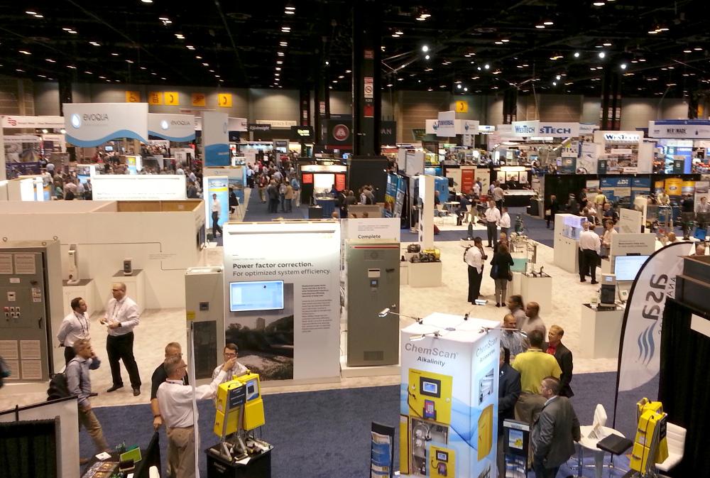 Photo of tradeshow floor