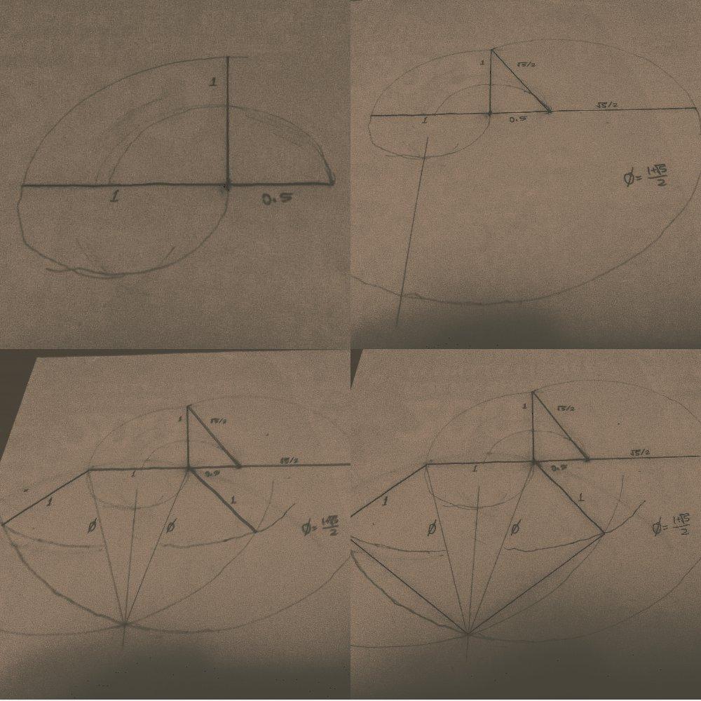 Geometric construction of a pentagon