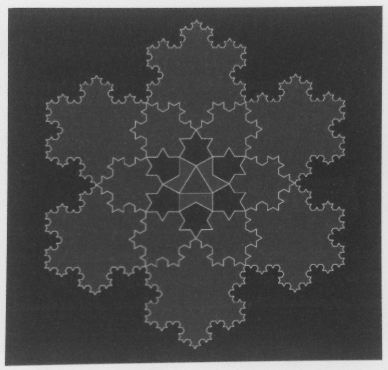 Koch snowflake plate from Beautiful Geometry by Maor and Jost