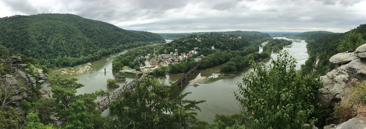 Panorama of Harpers Ferry, WV
