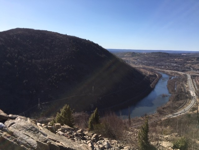Lehigh Water Gap seen from the Appalachian Trail