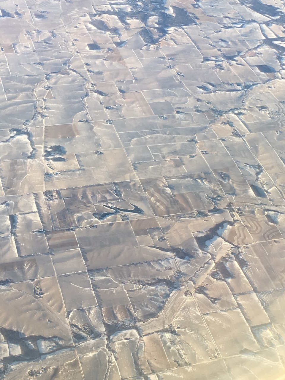 Aerial view of landscape in western Wisconsin