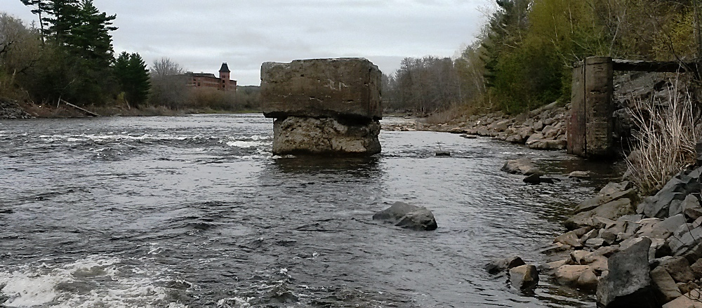 Old dam and mill in Marysville