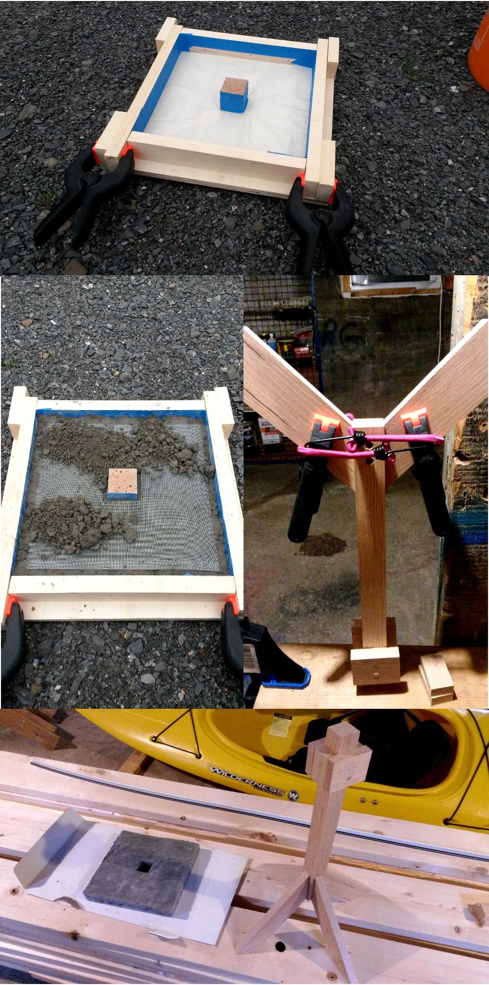 Concrete table construction steps