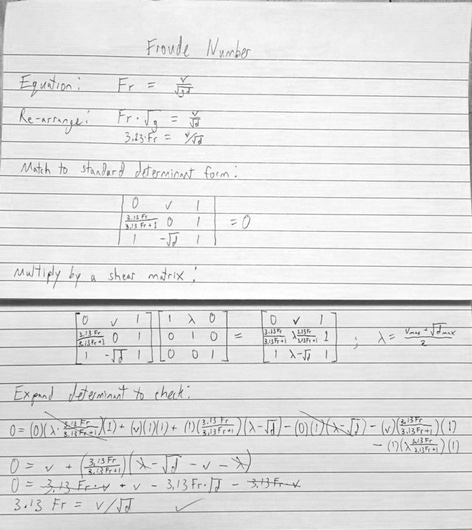Froude number as a determinant